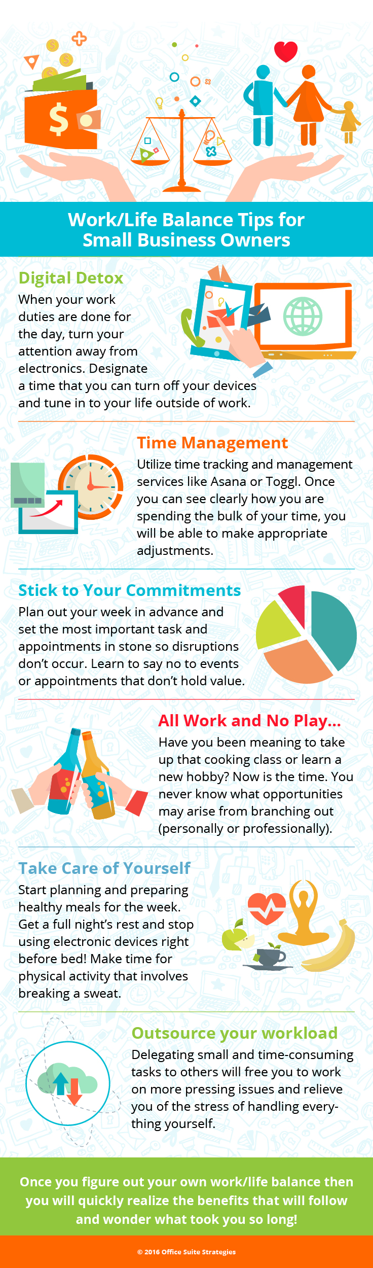 infographic to help balance work and life for small business owners