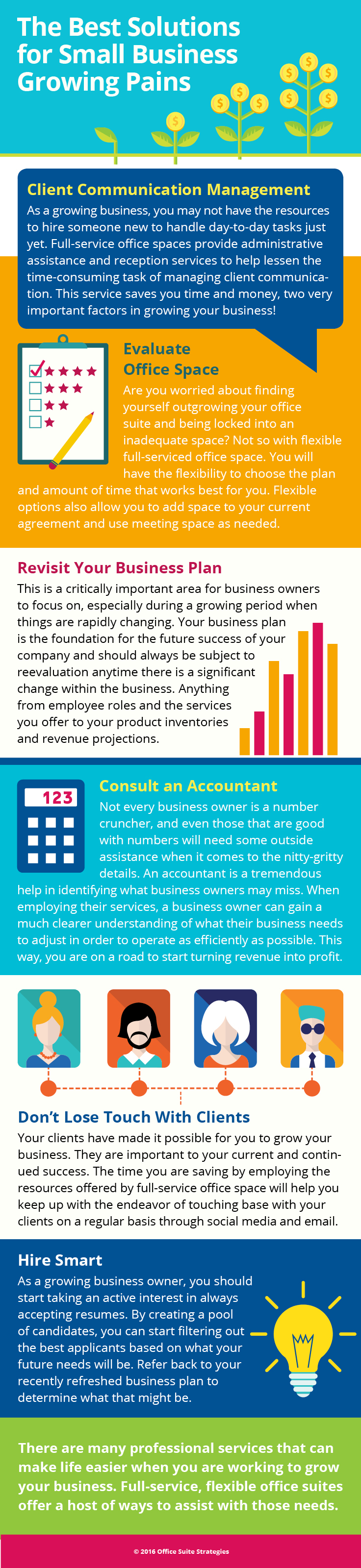Infographic for Nashville, TN small business owners who are experiencing small business growing pains